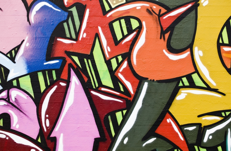 Big Bold Graffiti Mural MuralsWallpapercouk 764x500