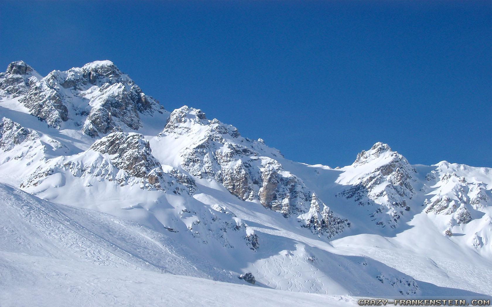 Mountains Winter Snow Wallpapers 1680x1050 pixel Nature HD Wallpaper 1680x1050
