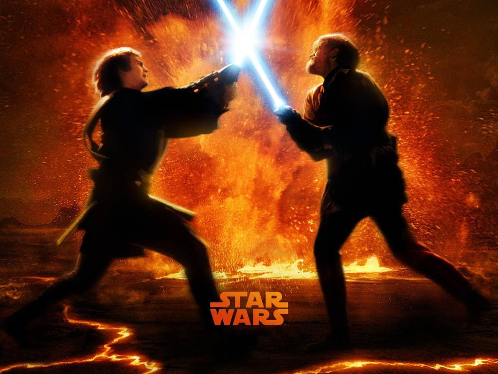 Fondos de Anakin vs Obi Wan Fondos de pantalla de Anakin vs Obi Wan 1024x768