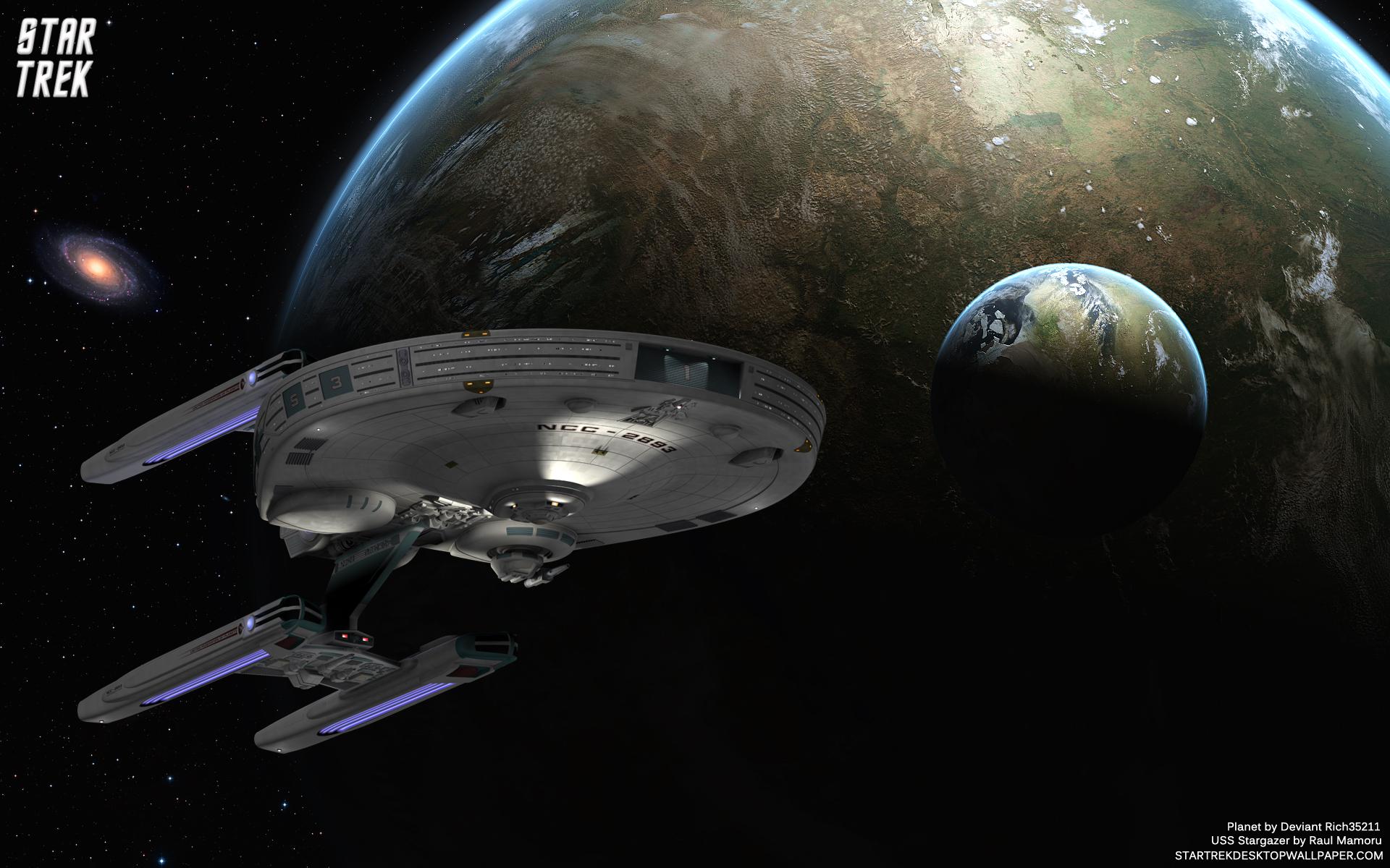 Star Trek USS Stargazer Star Trek computer desktop 1920x1200