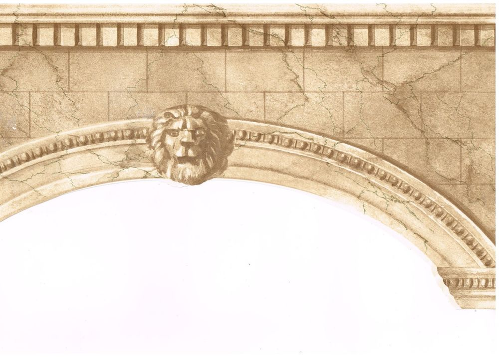 Arch Ways Tanned Back Crown Moulding Wallpaper Border Wall eBay 1000x716