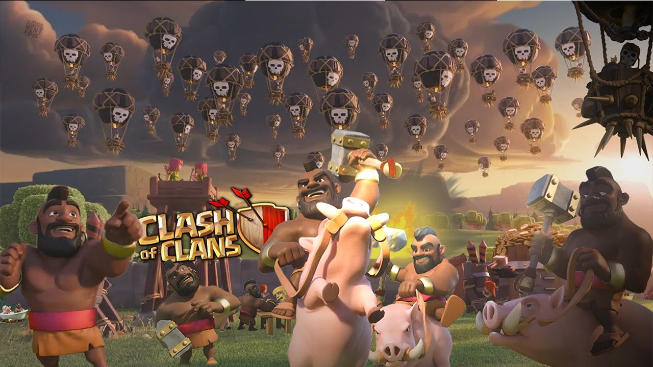 Clash of Clans Fan Art Balloon HogRider Event 1280x720