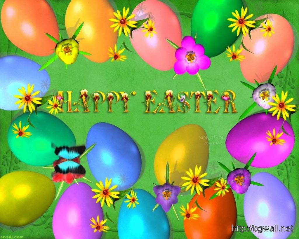 Happy Easter Eggs Desktop Wallpaper 1024x819
