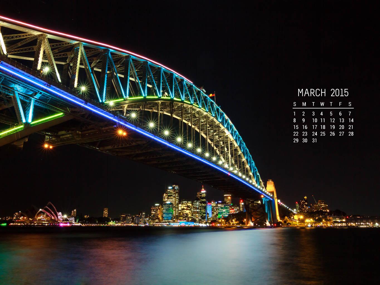 Calendar Wallpaper March 2015 Photo Insomnia 1365x1024