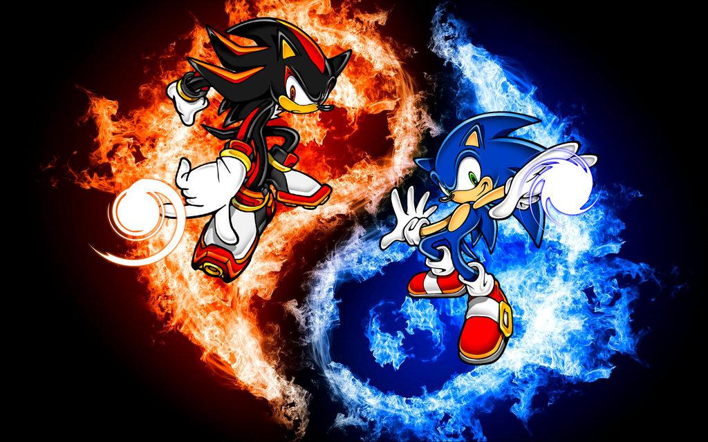 Sonic and shadow wallpaper wallpapersafari - Sonic et shadow ...