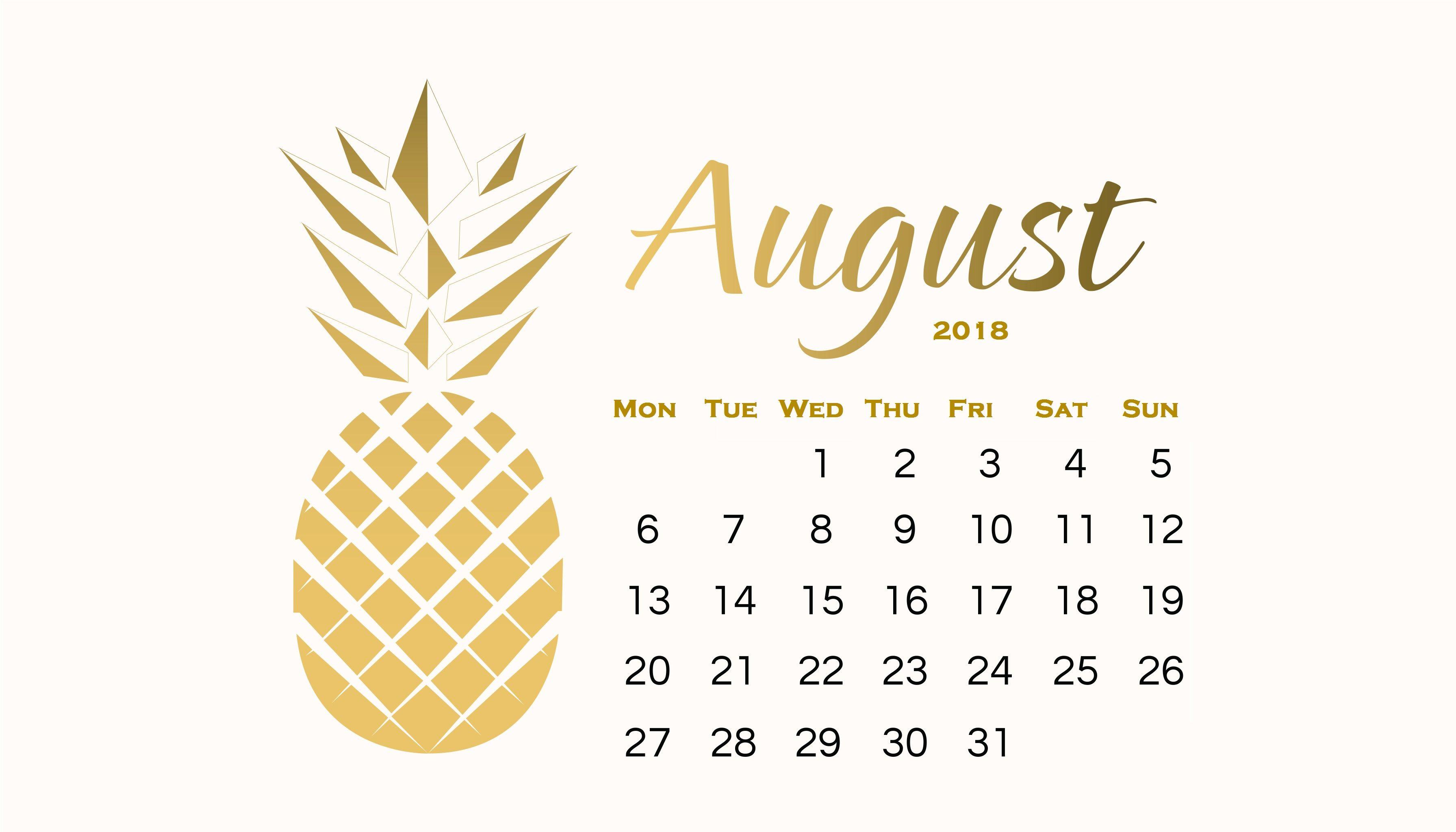 Amazing August 2018 Calendar Wallpaper Calendar wallpaper 3583x2048