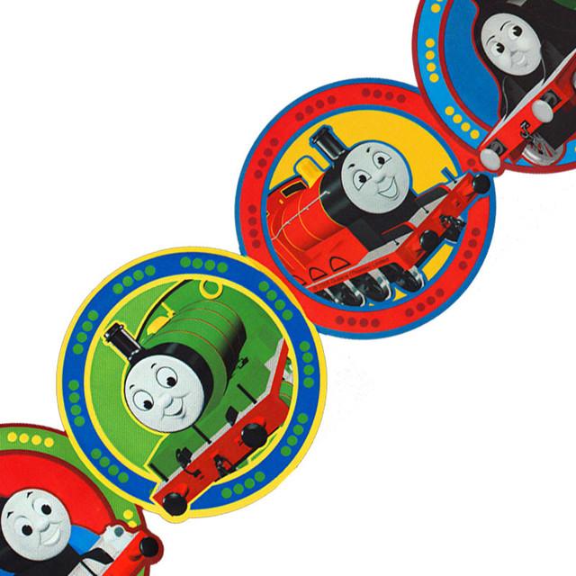 Thomas Train Circles Prepasted Wall Border Roll contemporary wallpaper 640x640