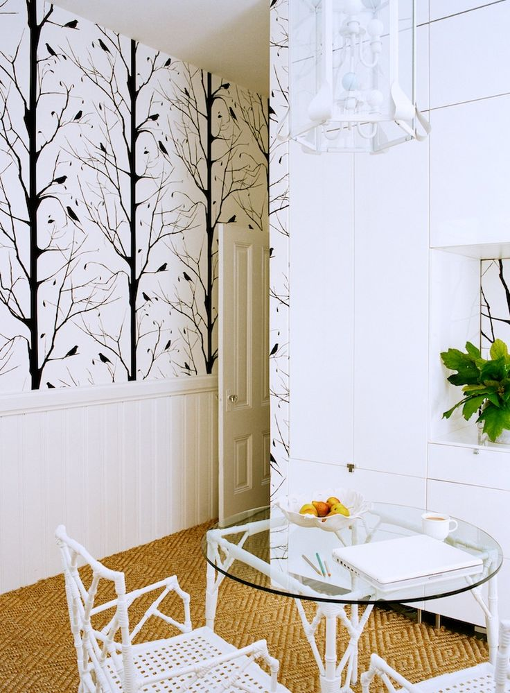 cavern home blackbird wallpaper mudroom 736x999