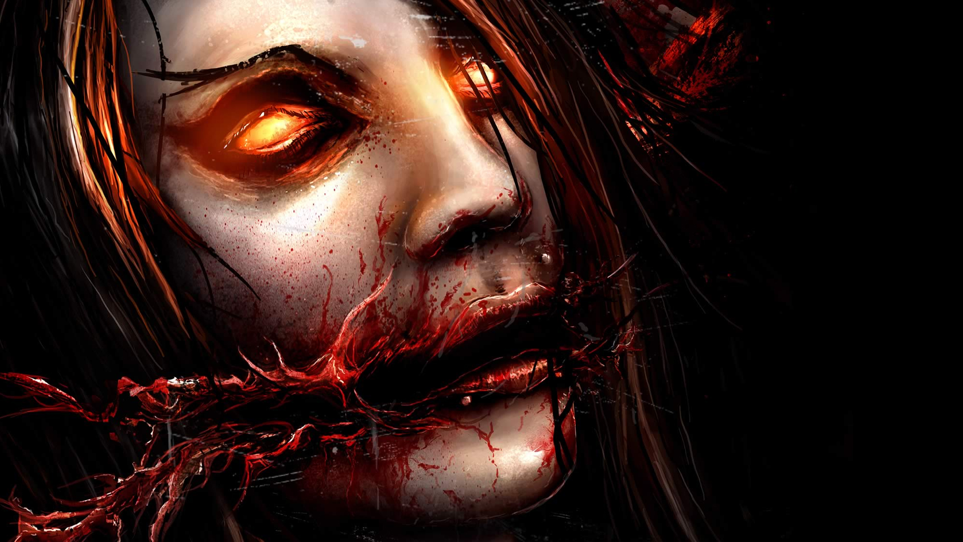 horror macabre demon eyes wallpaper 1920x1080 79500 WallpaperUP 1920x1080