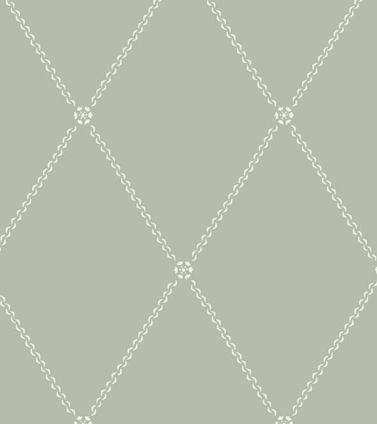 Trellis Wallpaper Pale sage green wallpaper with chain style trellis 534x601
