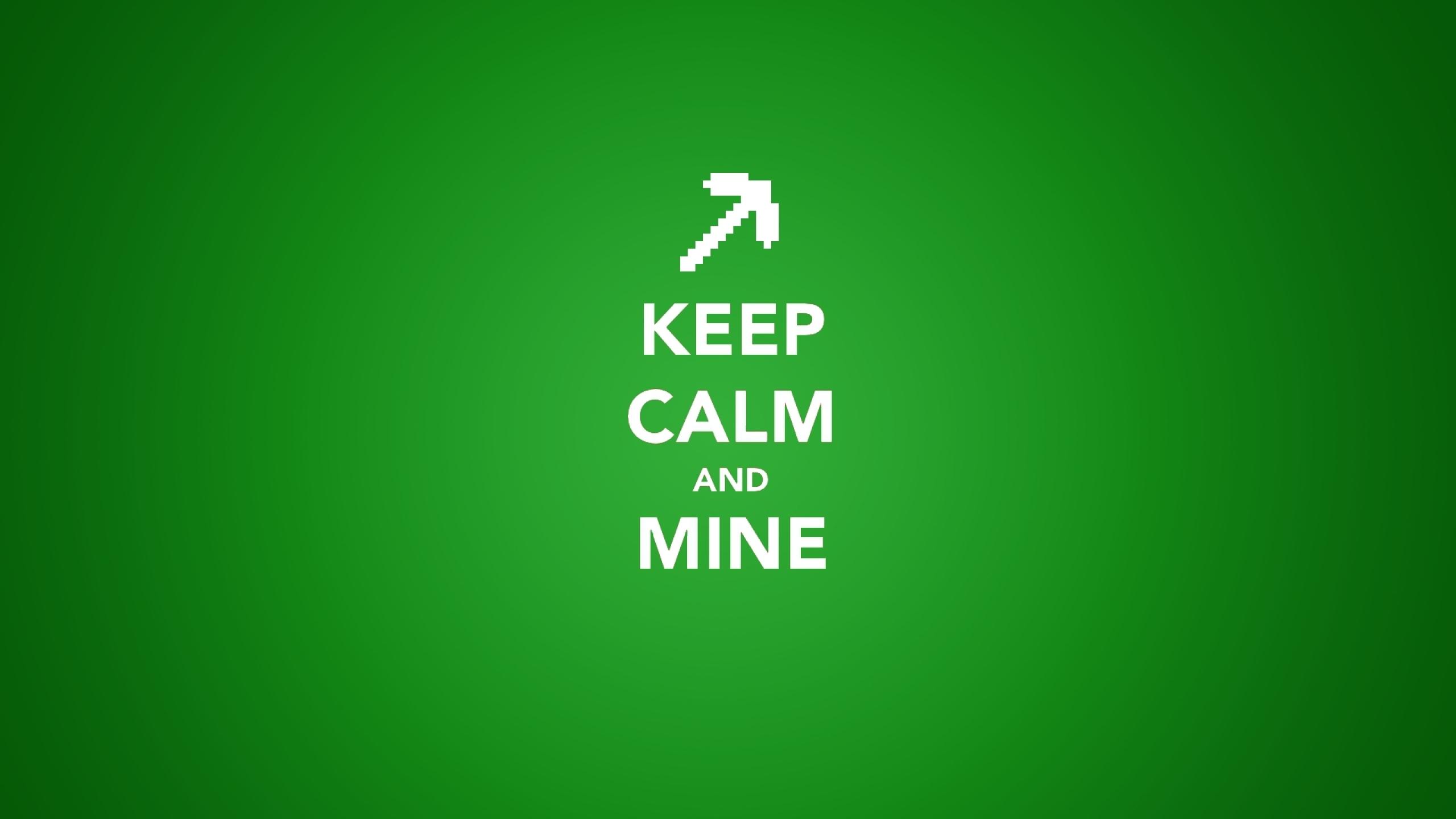 minecraft keep calm and 1920x1080 wallpaper Wallpaper 2560x1440