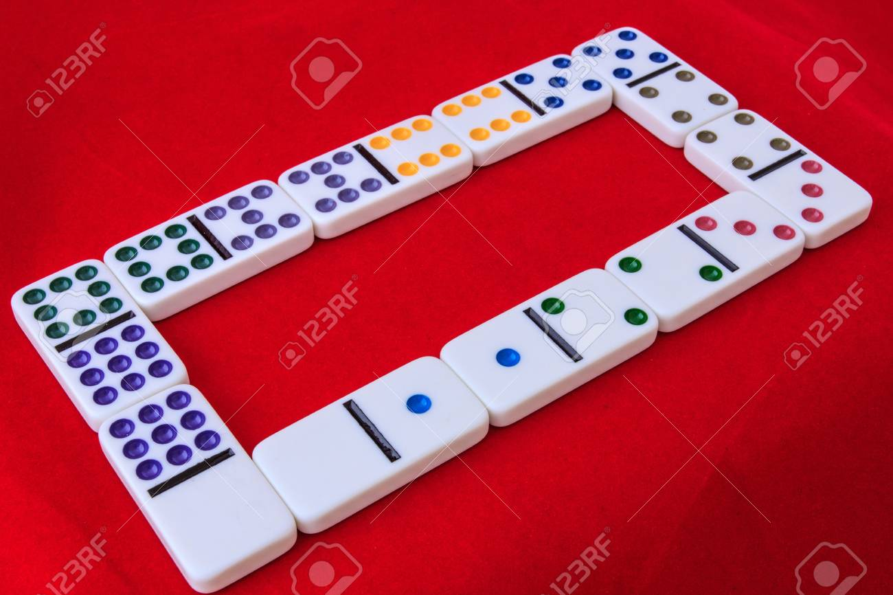 Dominos Number 0 To 9 The Colors Dot With White Block Isolate 1300x866