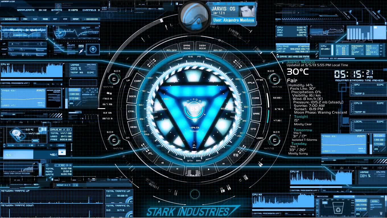 Animated 3d wallpaper jarvis interface - Stark Industries Desktop Youtube