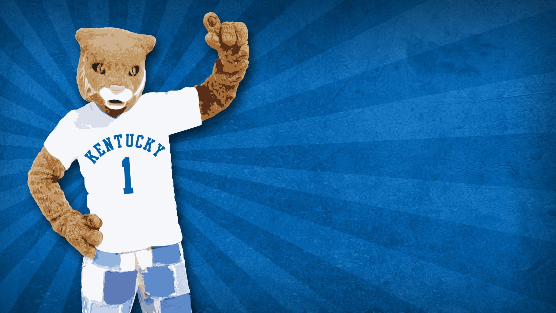 University of Kentucky desktop wallpaper featuring the Wildcats mascot 1920x1080