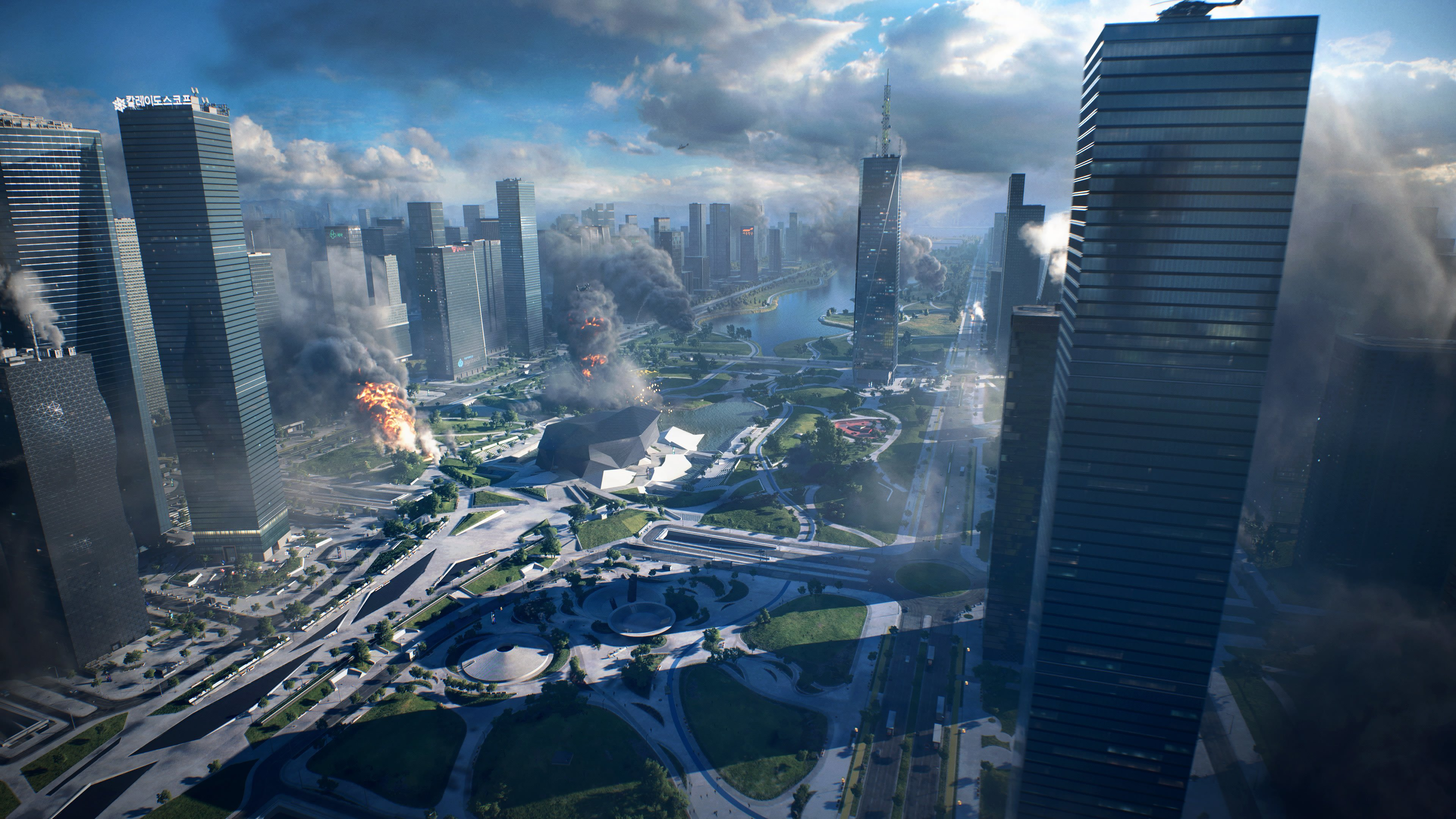Video Game Battlefield 2042 City Wallpaper Background Image 3840x2160