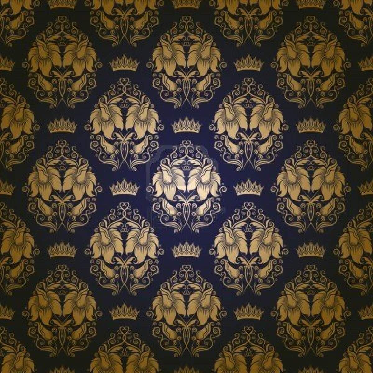 Golden Flowers Pattern Wallpapers   First HD Wallpapers 1200x1200
