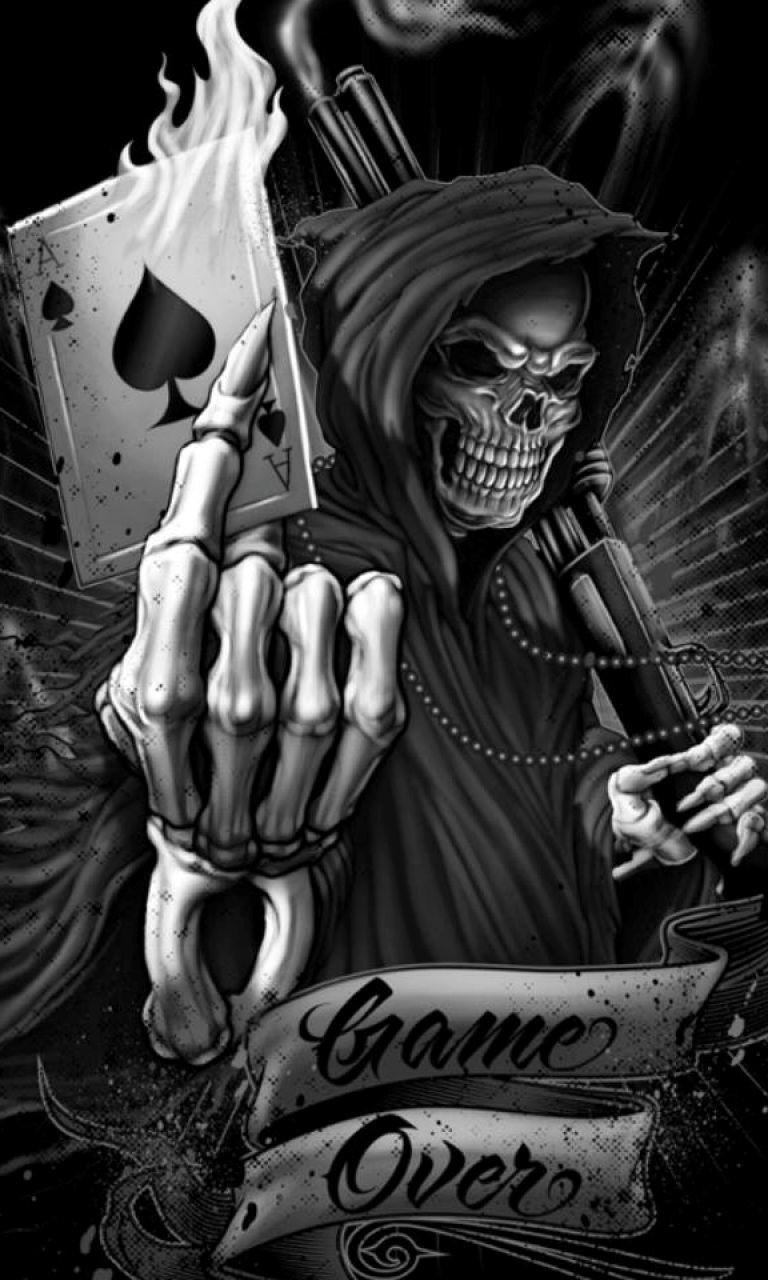Game Over Skeletonjpg phone wallpaper by twifranny 768x1280