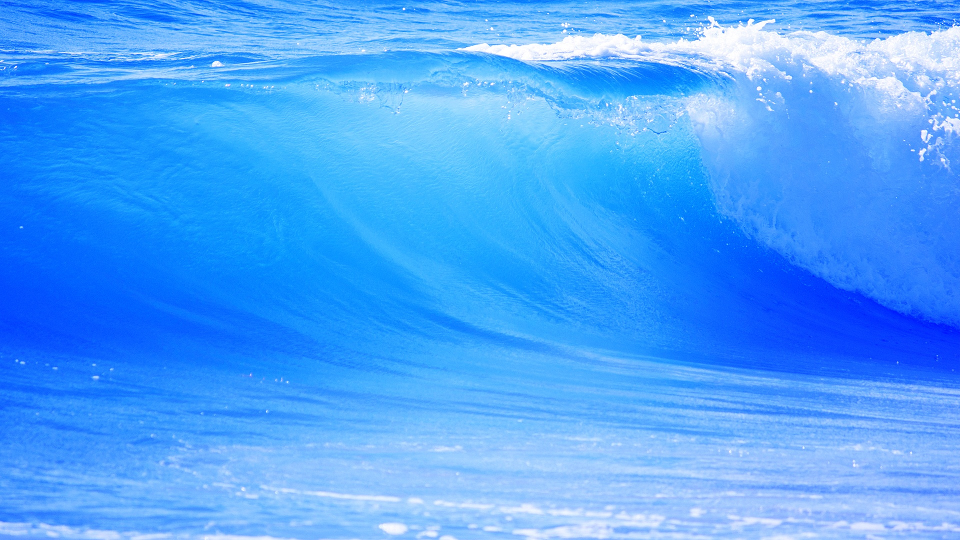 Ocean Blue Waves 1920 x 1080 Download Close 1920x1080