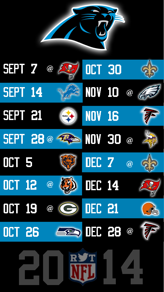 2014 NFL Schedule Wallpapers for iPhone 5   Page 6 of 8   NFLRT 640x1136