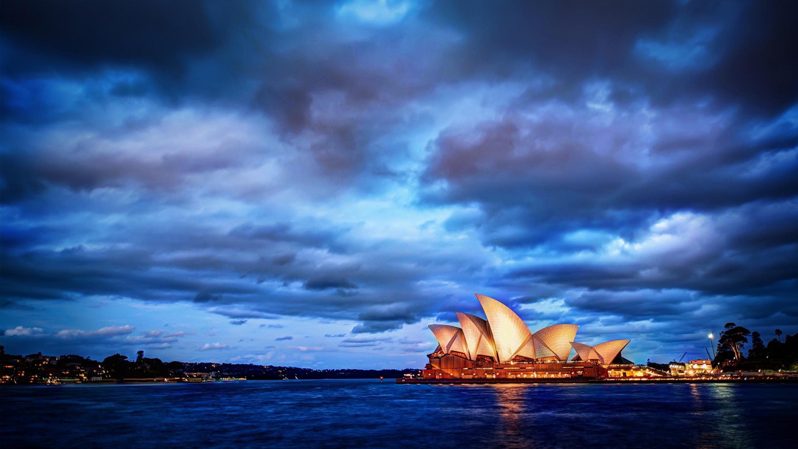 Sydney Opera House Landscape Wallpaper Travel HD Wallpapers 2560x1440