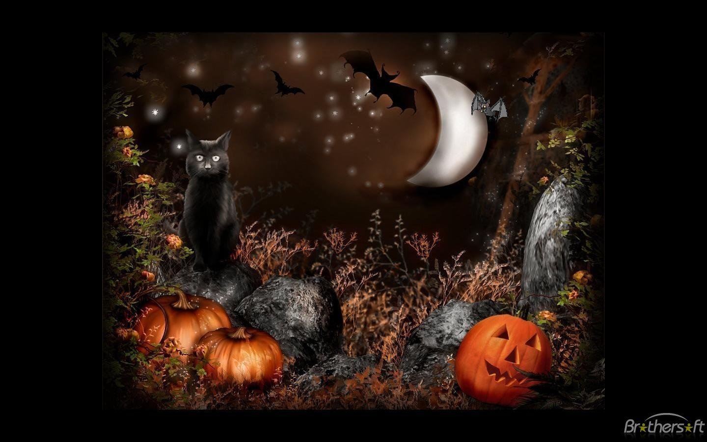 Download Artsy Halloween Scenes Screensaver Artsy Halloween 1440x900