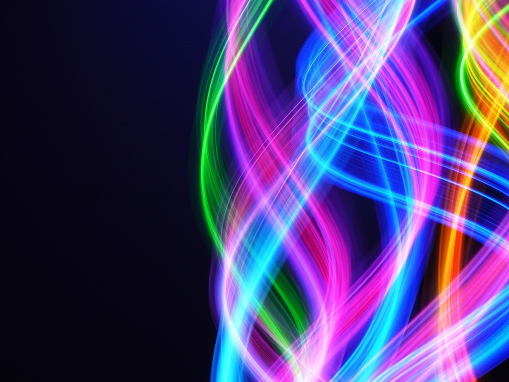 Bright Colors Colourful Swirls 1024x768