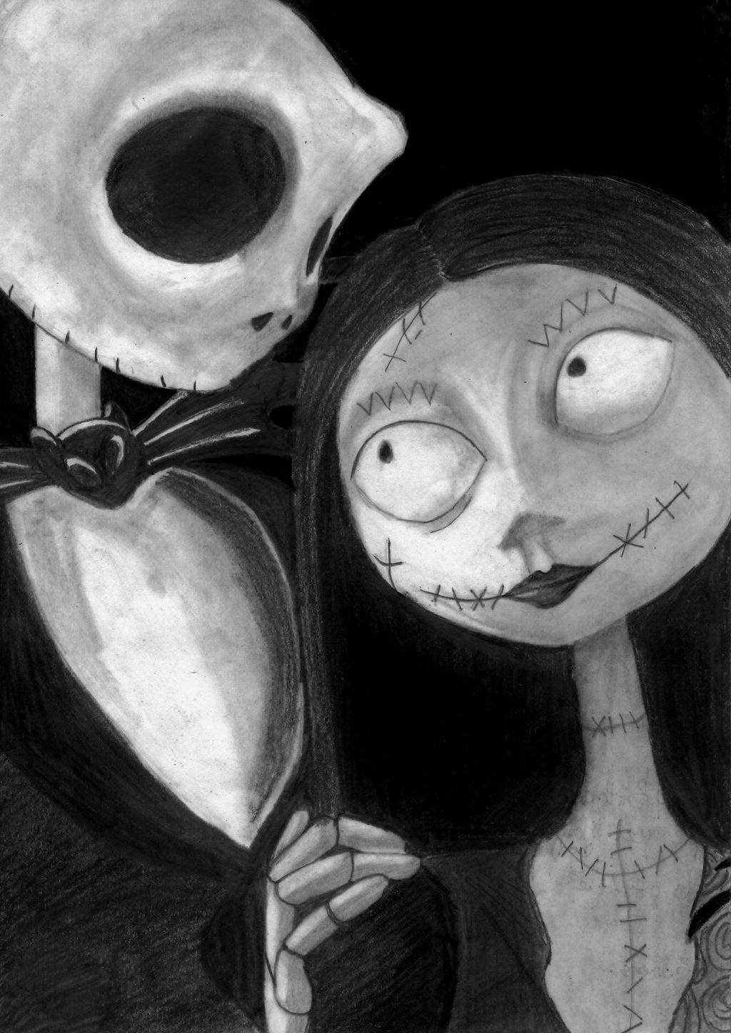Free Download Sally And Jack Skellington By Ninjacakez 1024x1448