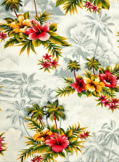 Collection Hibiscus Palm Trees Tropical Prints Hoffman Tropical 500x676