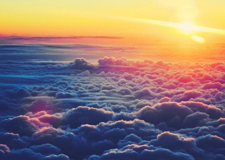 Sunrise Above The Clouds Wallpapers cloud desktop backgrounds 768x546