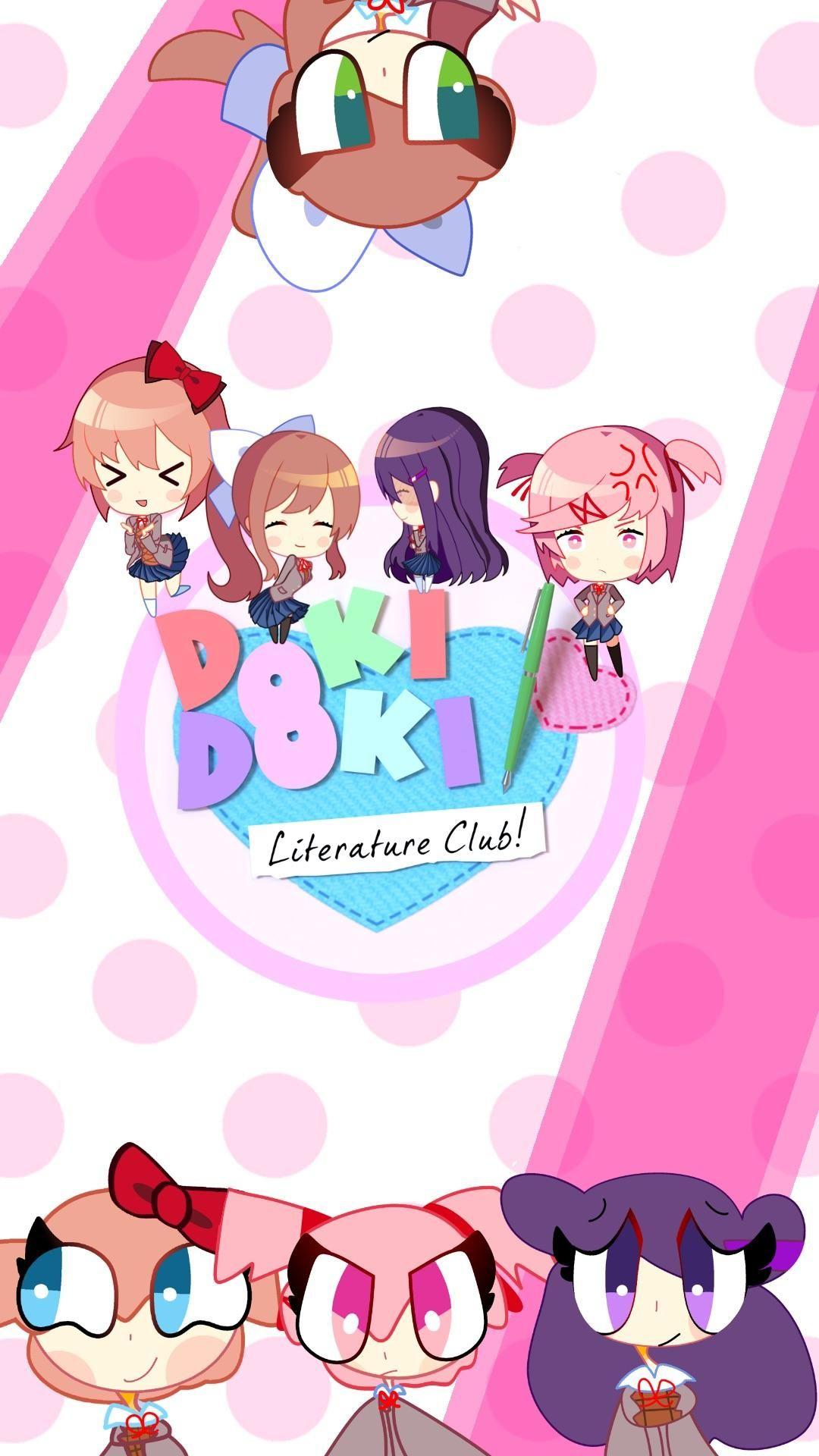 Doki Doki Floofiture Club iPhone background F2U DDLC With 1080x1920