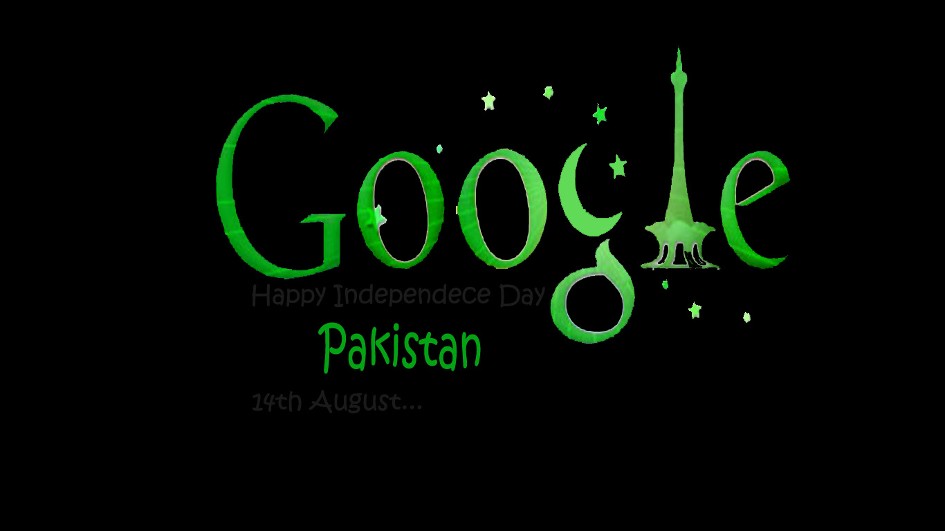 Download Independence Day Pakistan Google Style HD Wallpaper Search 1366x768