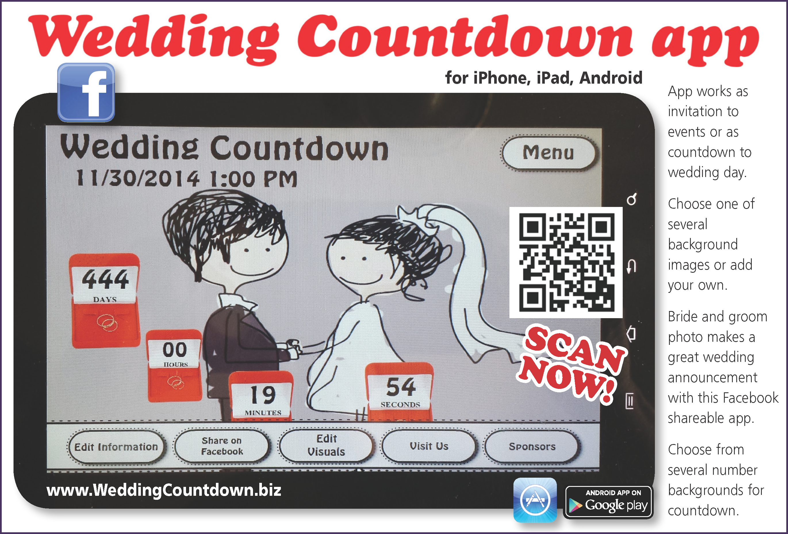 invitation to events surrounding wedding or as countdown to big event 2741x1858