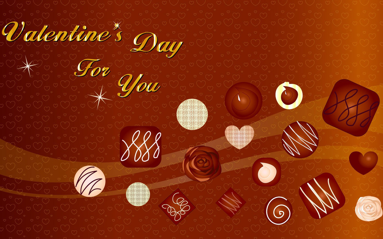 Floating chocolates at Valentines Day wallpaper 41304 1280x800