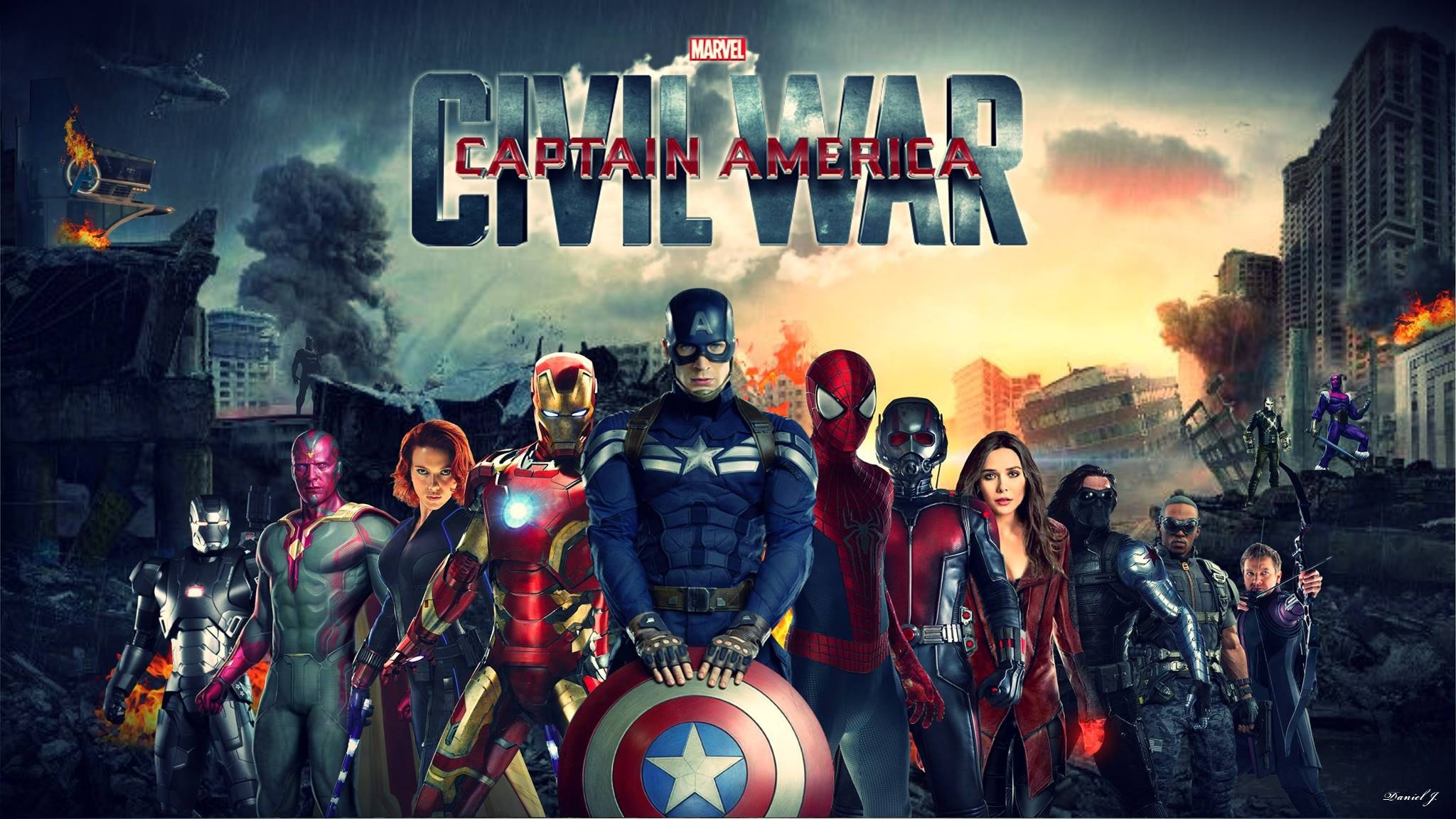 CAPTAIN AMERICA 3 Civil War marvel superhero action fighting 1cacw 2048x1152