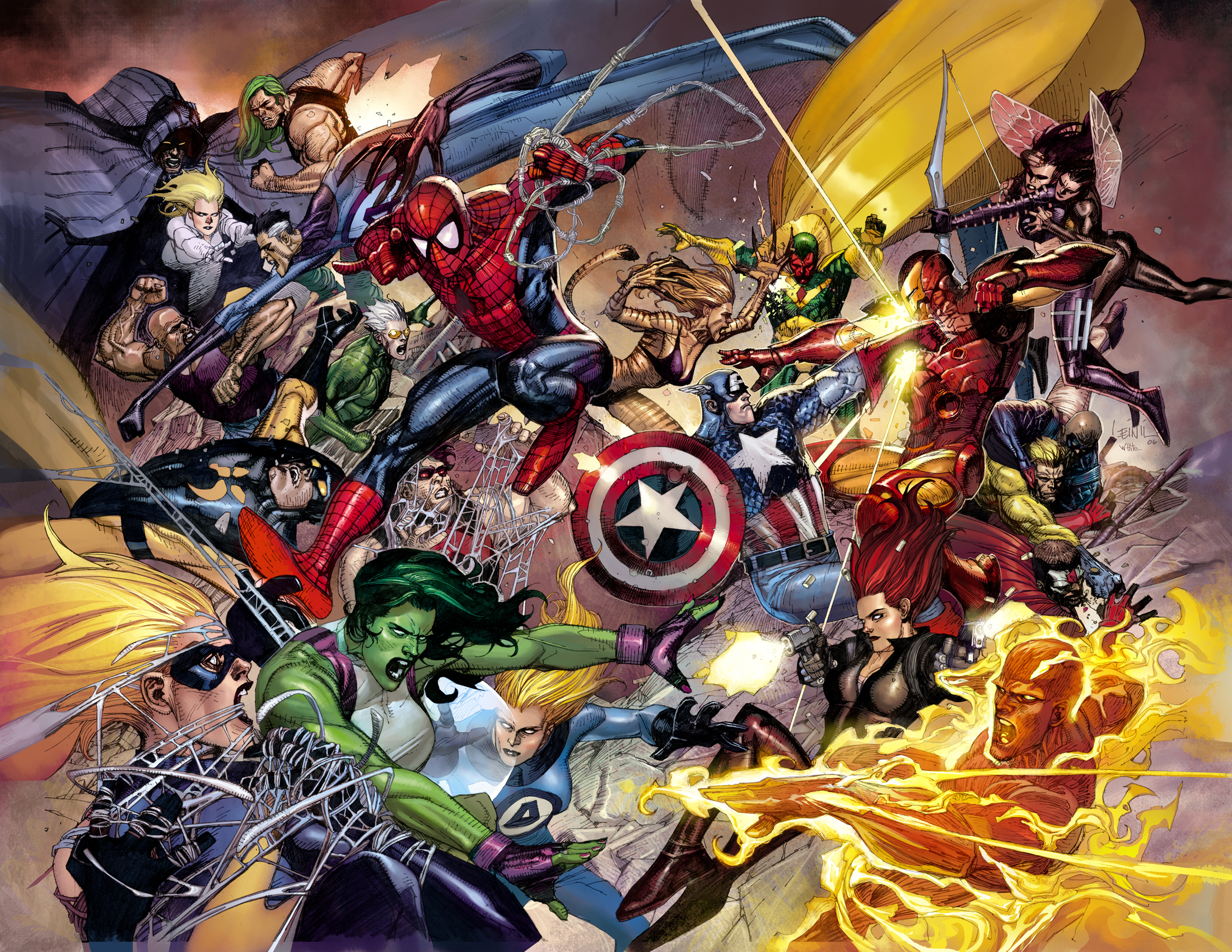 Marvel Civil War desktop wallpaper 2200x1700