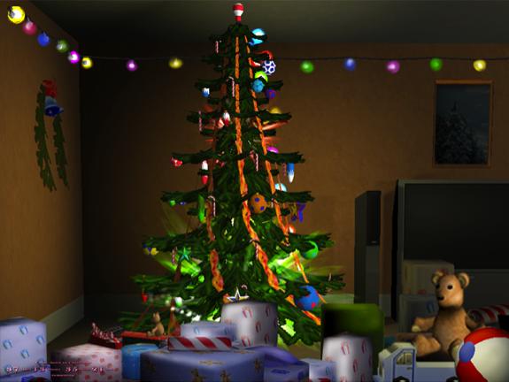 free 3d animated christmas wallpaper 575x432