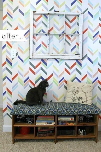 Self adhesive vinyl temporary removable wallpaper wall decal   Herri 426x640