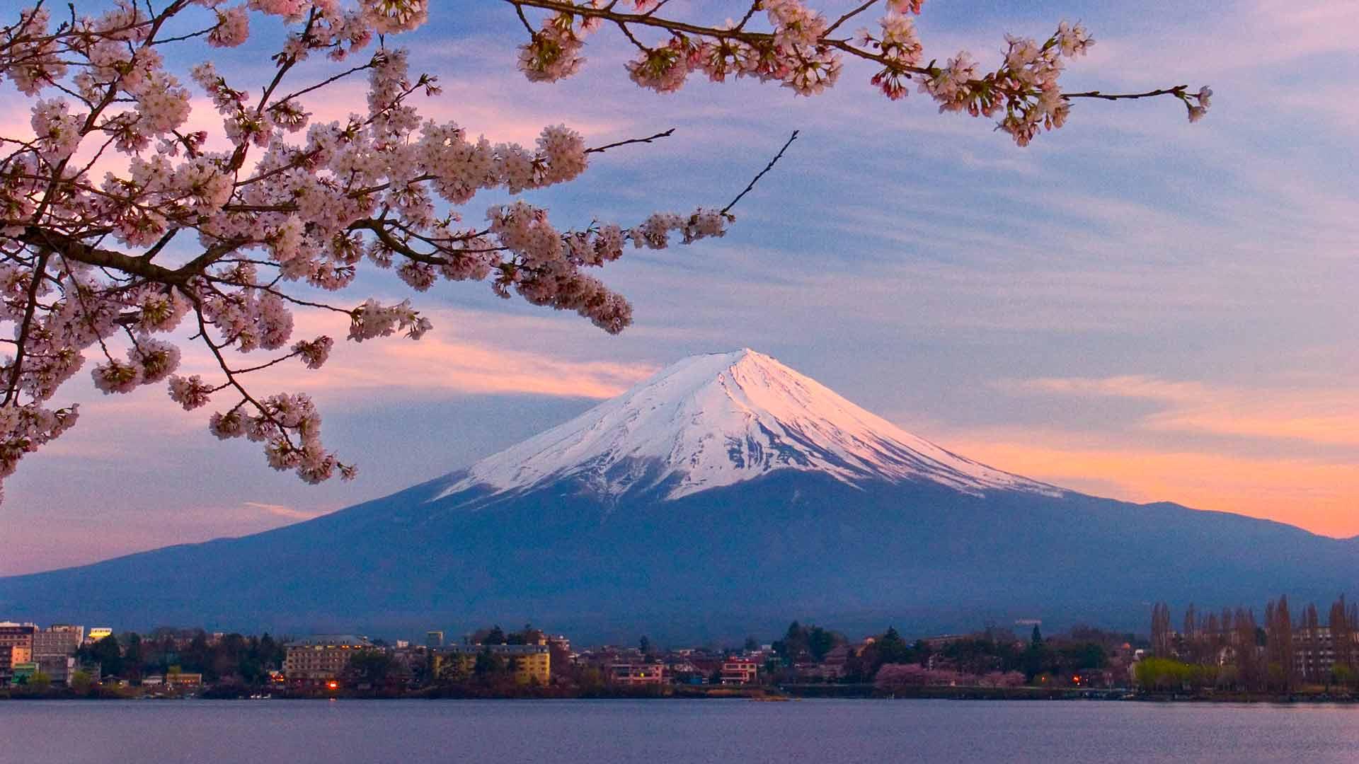 Japans Mount Fuji scenery wallpaper Desktop Background Scenery 1920x1080