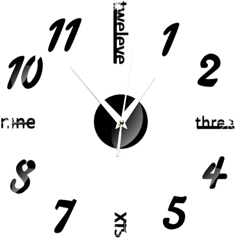 Amazoncom ChezMax 3D DIY Wall Clock Murals Decal Sticker Acrylic 924x938