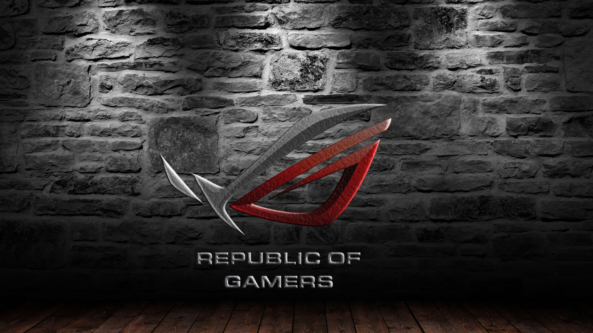 Free Download Asus Rog Republic Of Gamers Logo Hd 1920x1080