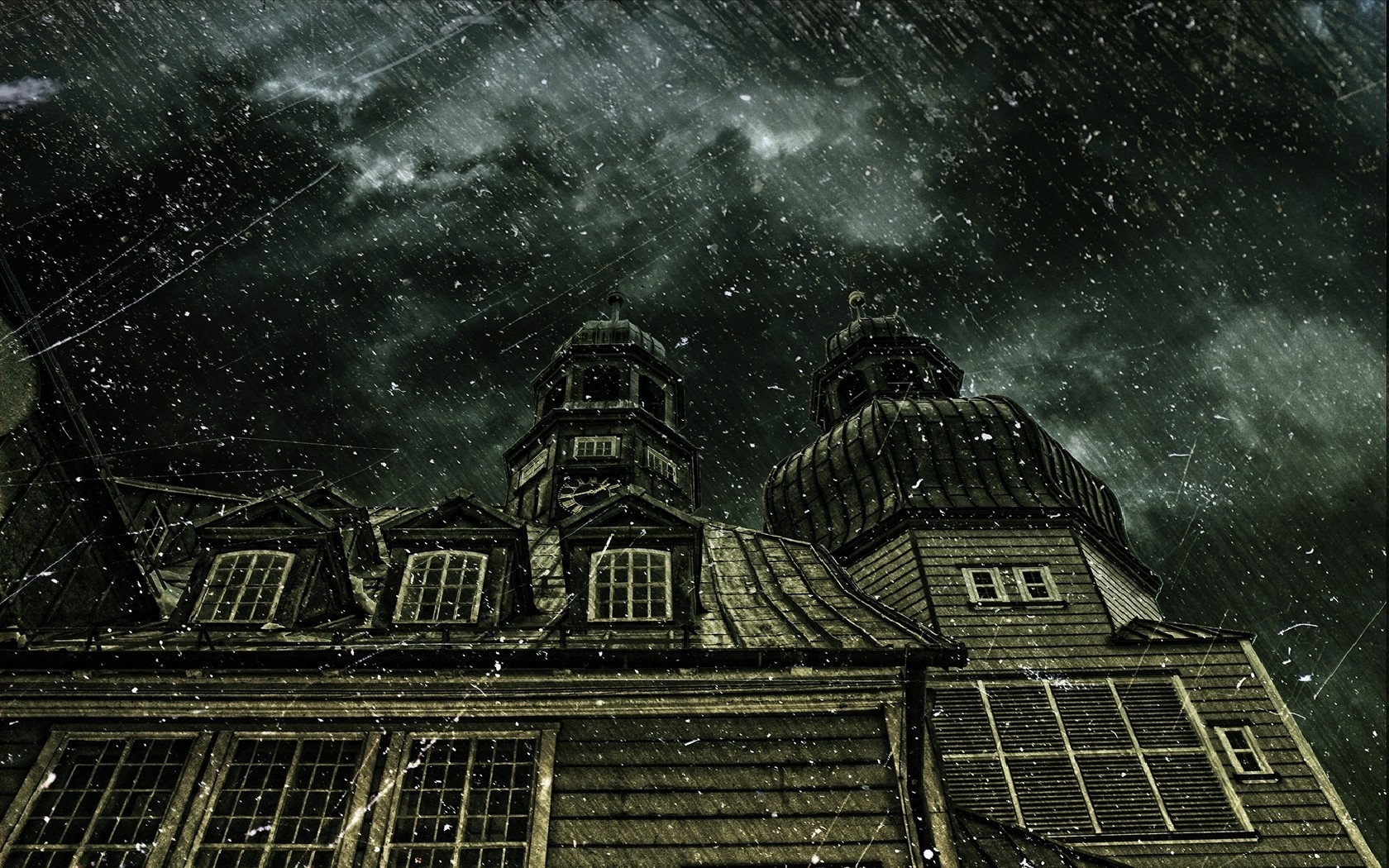 Haunted Horror Creepy Spooky Scary Halloween Haunted House Wallpaper 1680x1050