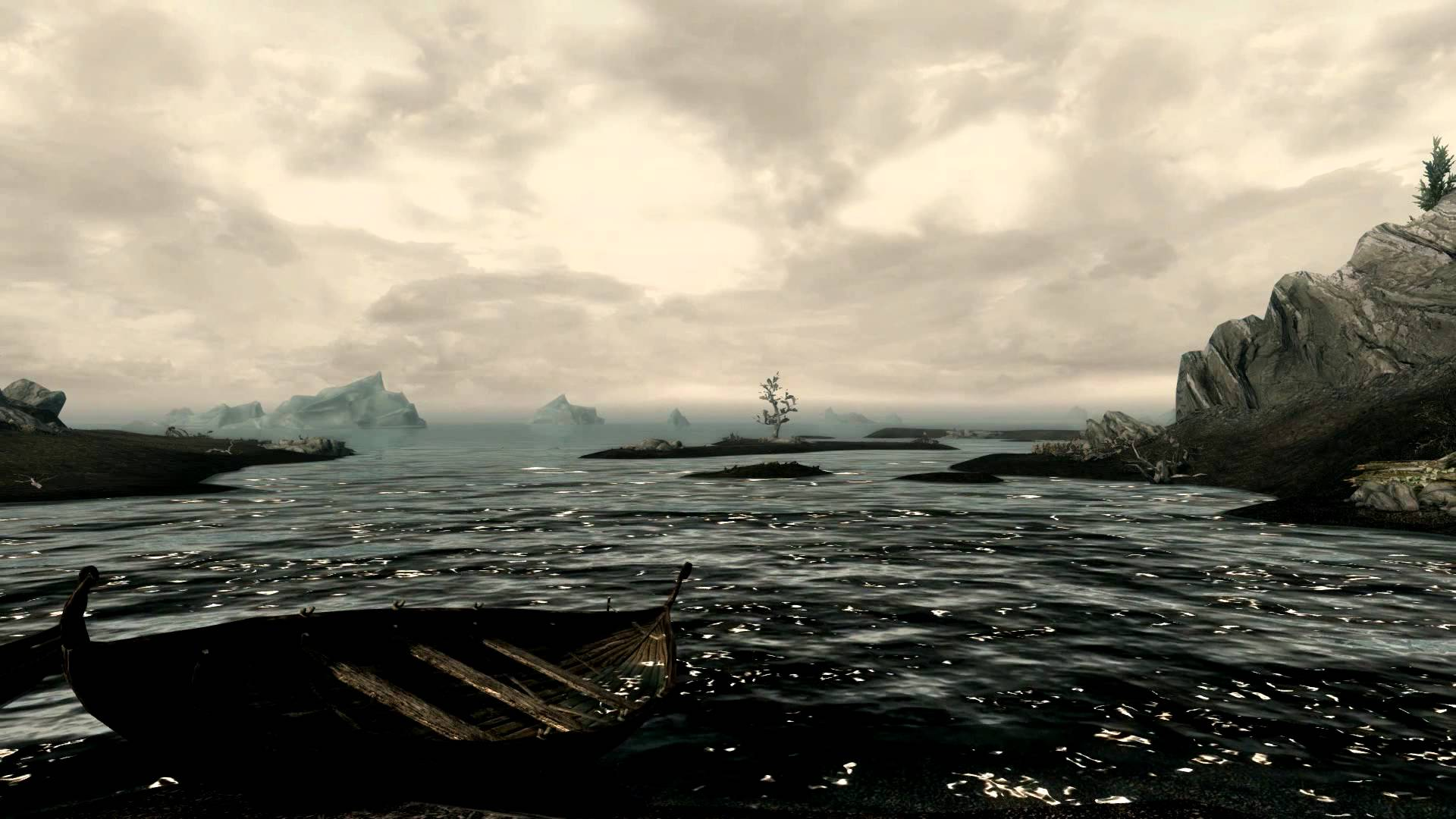 Skyrim Beautiful Shoreline 1 Video Desktop Wallpaper 1920x1080