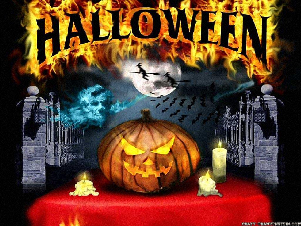 Halloween   Holiday wallpapers   Crazy Frankenstein 1024x768