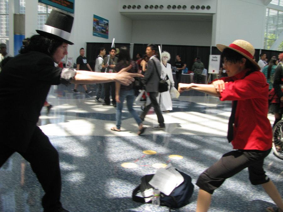 Rob Lucci vs Monkey D Luffy by KitsuneOtakuMangaKa on 900x675