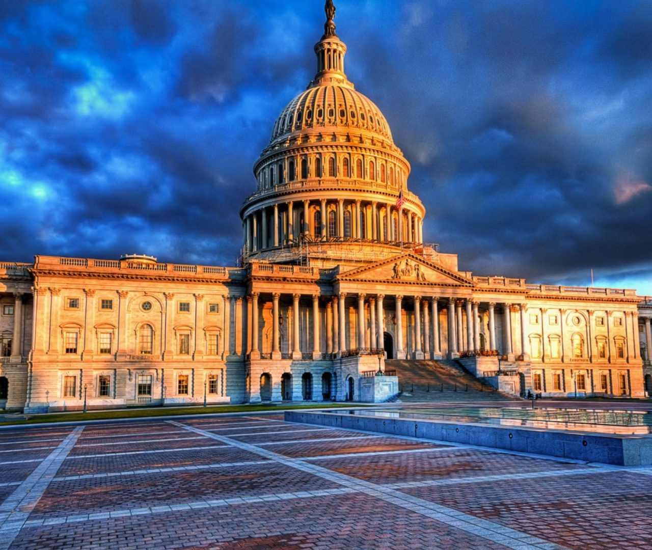 High Definition Wallpaper Of The Home Of United States Congress 1280x1080