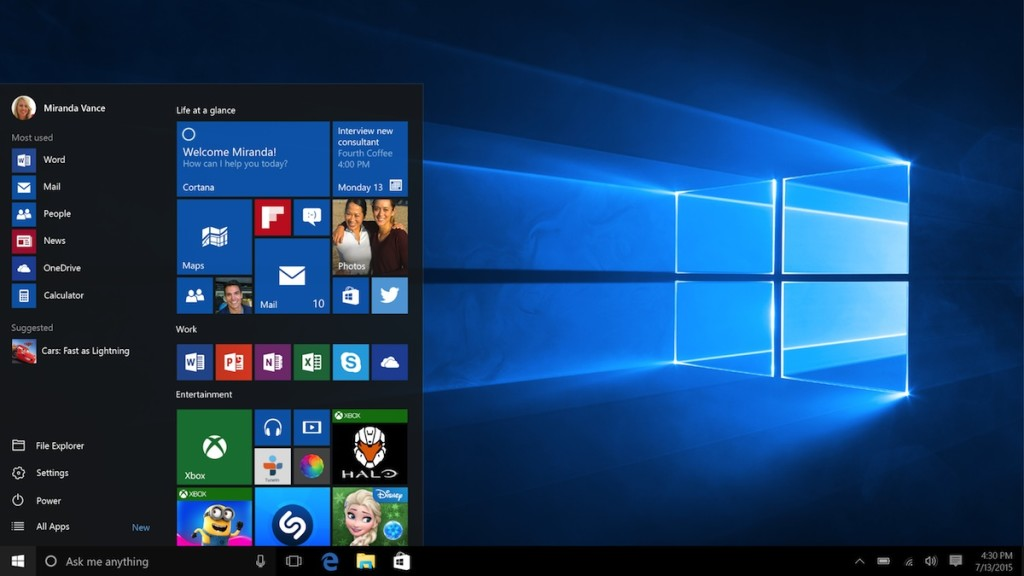 Download Windows 10 build 10162 ISO images for clean install 1024x576