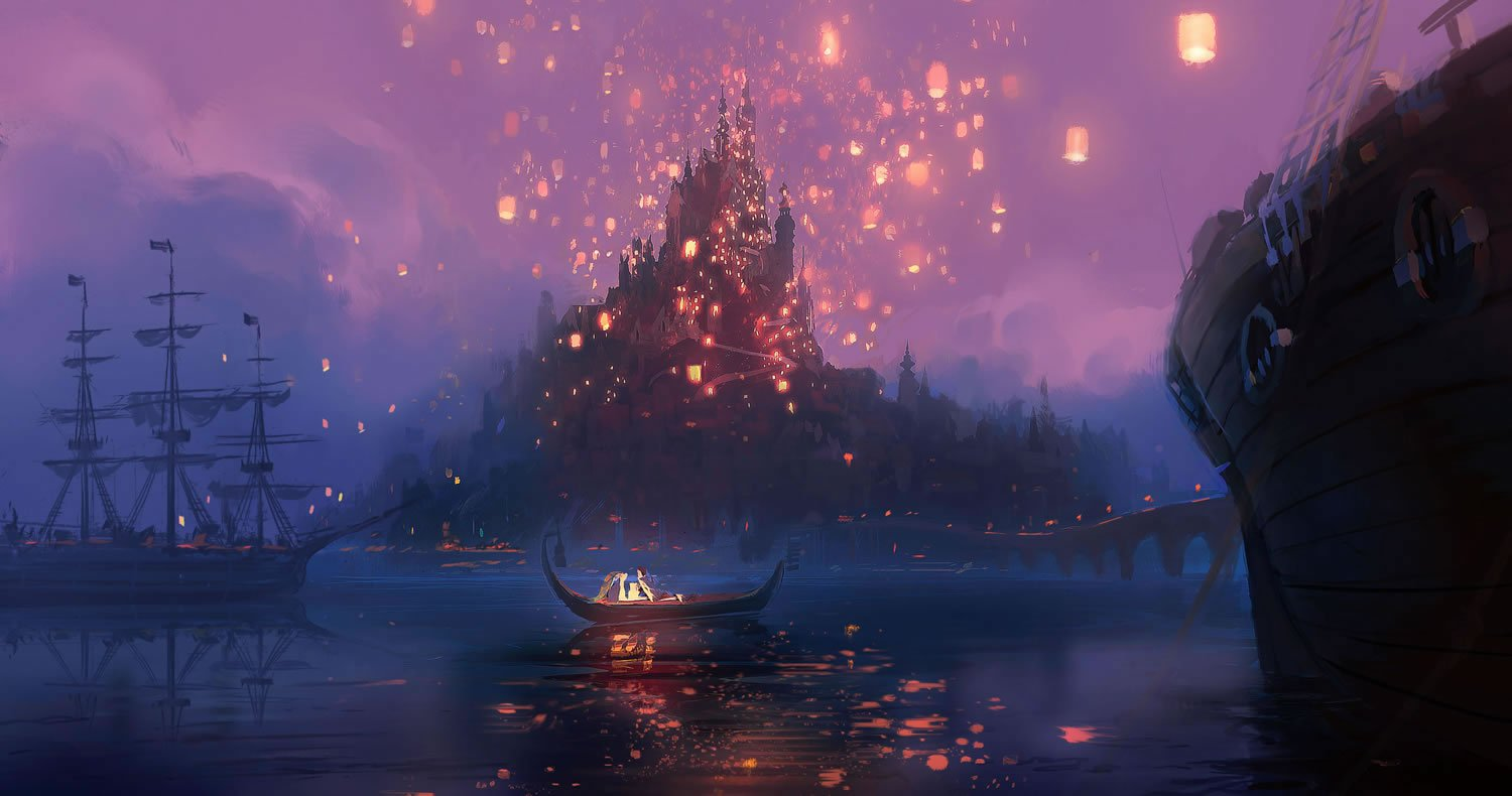 Rapunzels Castle Concept Art from Disneys Tangled wallpaper 1500x790