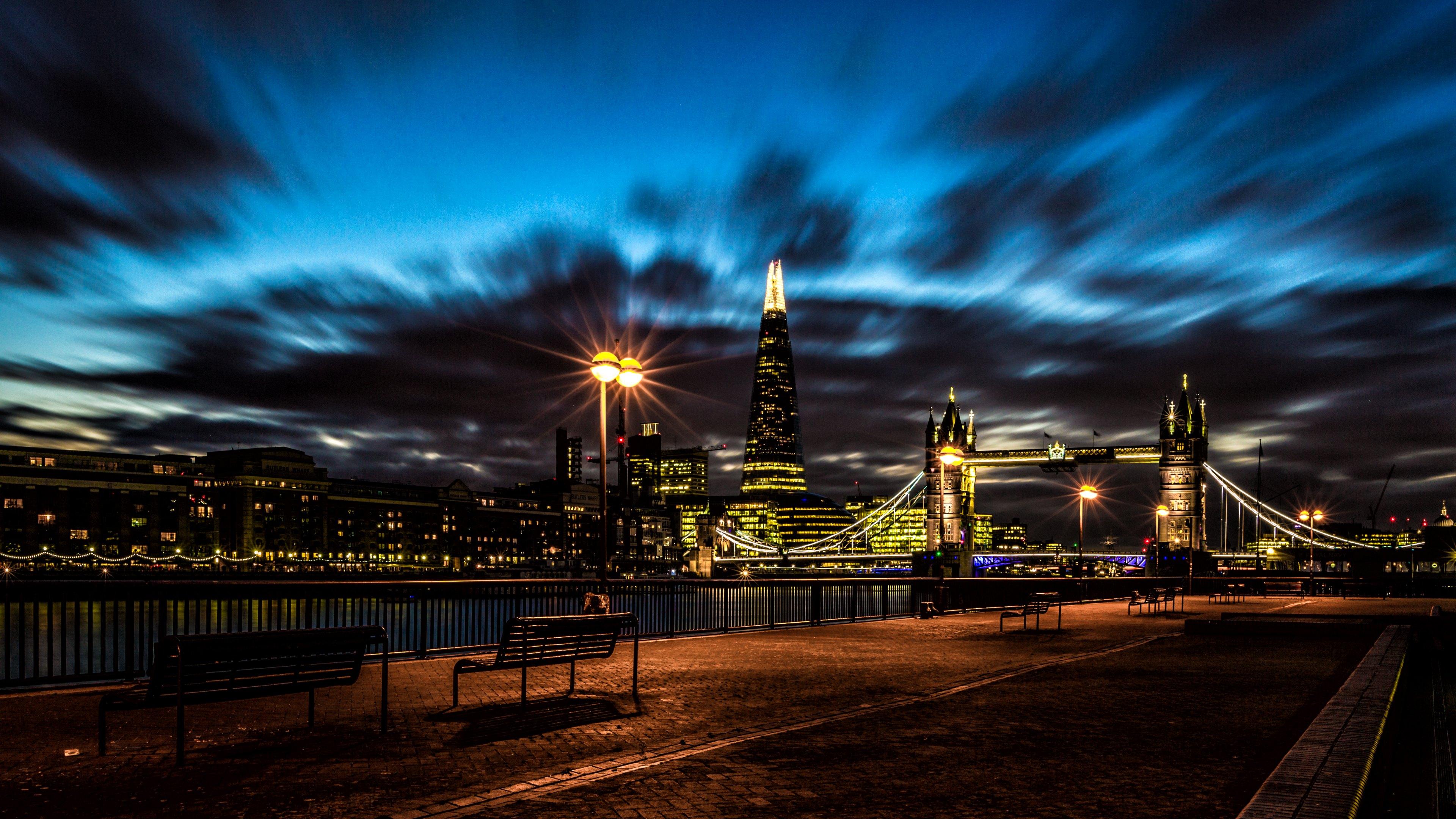 Night Bridge London Cityscape HD Wallpapers 183 4K 3840x2160