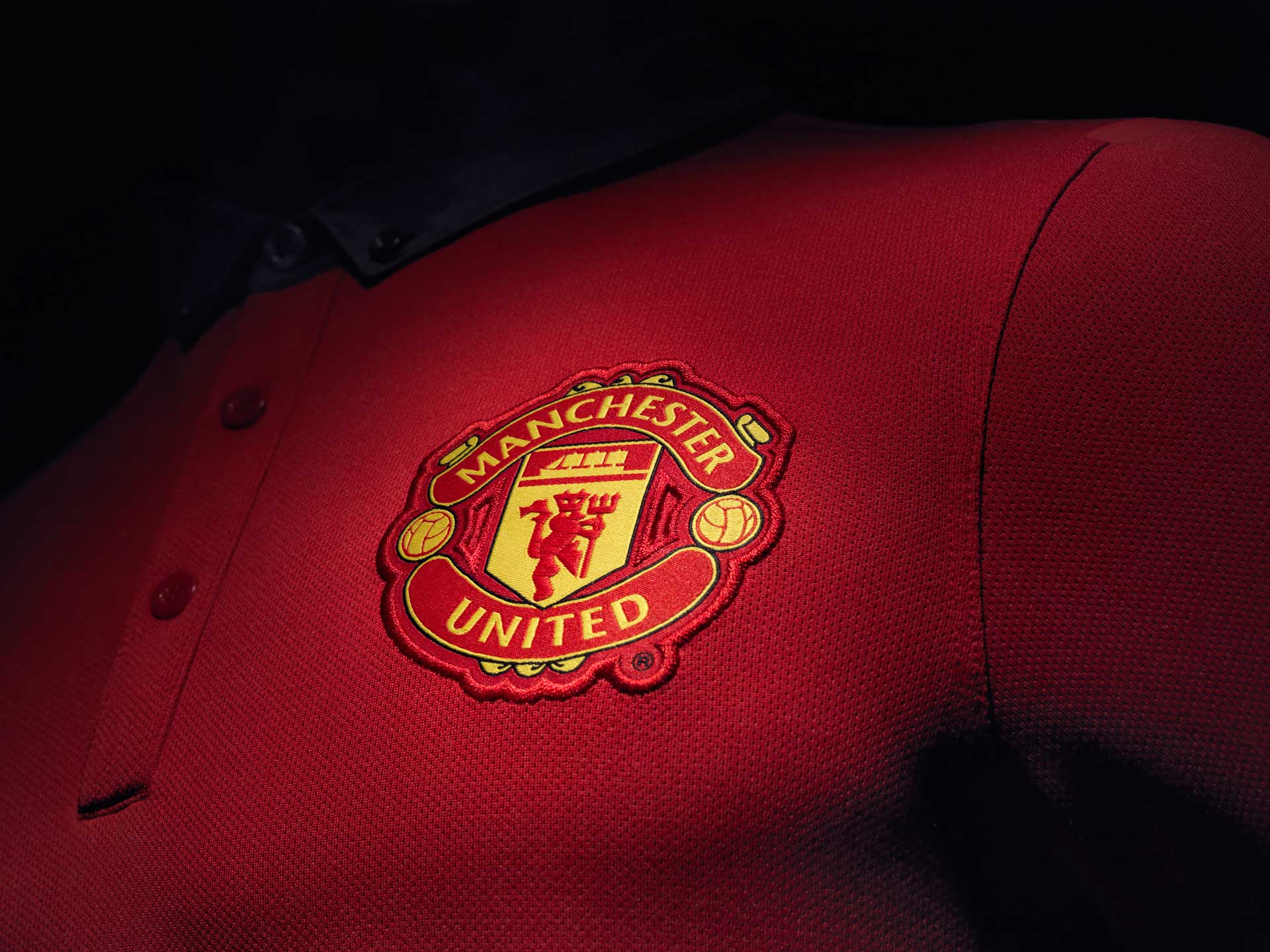 Manchester United crest logo in the jersey 2014 2015 wallpaper 1920x1440