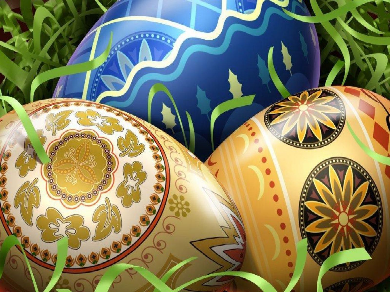 Easter Eggs Decorations Colorful Easter Eggs Wallpapers Cool 1600x1200